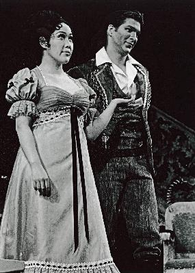 Shigemi Matsumoto as Rosina in The Barber of Seville (San Francisco Opera) (with Alan Titus)